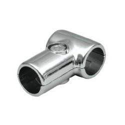 brida 2 tubos cromo