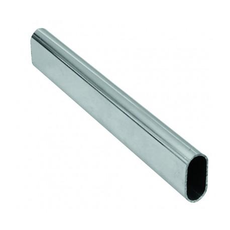 tubo oval 3 metros 30x15 cromado