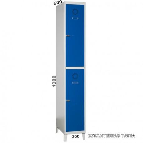 taquilla monoblok 2 puerta
