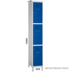taquilla monoblok 3 puertas