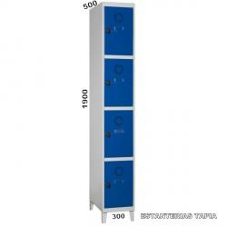 taquilla monoblok 4 puertas
