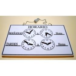 cartel horario