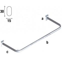 barra de colgar ovalada de 90 cm