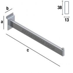 perchero recto rectangular de 40 cm