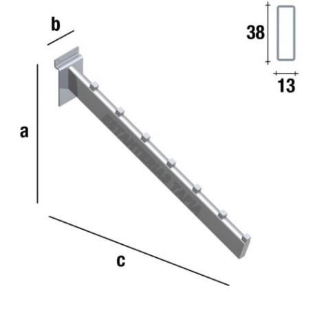 PERCHERO INCLINADO RECTANGULAR DE 38 cm