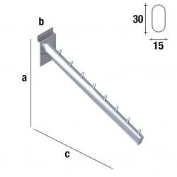 PERCHERO INCLINADO OVAL DE 31 cm