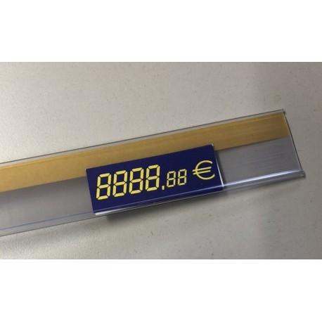 portaprecios adhesivo de 30 mm y 270 cm de longitud transparente