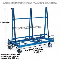 Carro transporte para planchas