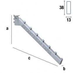 PERCHERO INCLINADO RECTANGULAR DE 40 cm QUEEN