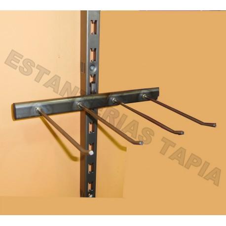 soporte cinturones hierro envejecido